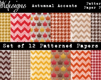 Autumnal Accents Patterned Paper Pack