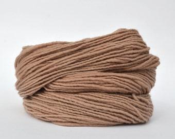 Tan Weaving Yarn, Navajo Weaving Yarn, Wool Yarn, 4oz skein