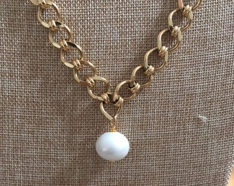 Vintage Chain with Pearl Bead