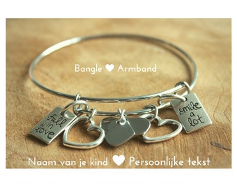 Personal bangle charm Bracelet!
