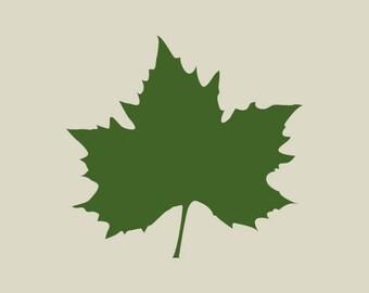 Sycamore leaf. (Ref 133) adhesive vinyl stencil