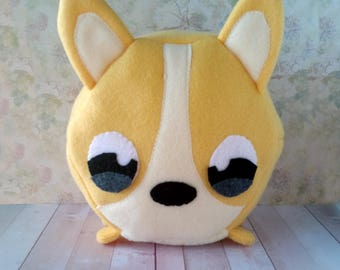Corgi Hexagonimal - Stuffed Dog - Animal Plushie - Hexagon Toy