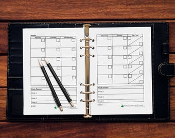 Monthly Planner in A5, Letter Size, A4 PDF