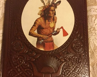 Vintage Time Life Books,  1976, THE INDIANS, The Old West, History, Leatherette  Cover