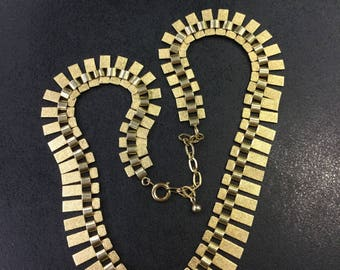 Rolled gold cleopatra necklace