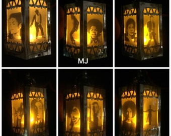 Prince and Michael Jackson Inspired Battery-Operated Plastic Mini Lanterns