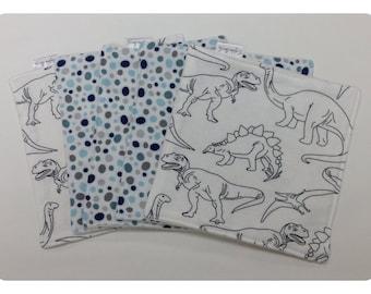 Organic cloth wipes, organic bamboo, baby washcloths, dinosaur washcloth, flannel baby wipe, organic baby wipe, dinosaur baby