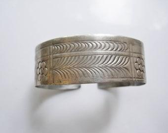 Vintage Berber Bracelet - 800 Silver - Siwa Dumluj - Tribal Cuff - Ethnic Jewelry