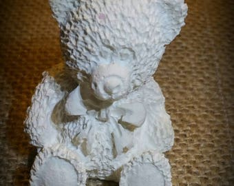 Bear teddy bear raw plaster decoration
