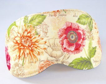 Floral Eye Sleep Mask, Dreamers Sleeping Cover for Eyes, Mothers Day Gift for Her, Insomnia Migraine Headache Relief Aid, Room Darkening