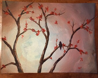 Autumn Day painting 6x8