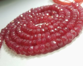 RUBY Gemston Bead, Faceted Ruby Rondelles, Precious Gemstone Rondelle.  4 to 4.5mm. Semi Precious Gemstone. Your Choice