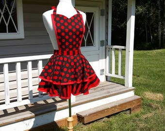 Stripes and Dots Tiered Apron