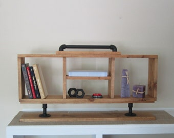 Cubby Shelf Storage Shelf  Mail Holder  Wood Shelf  Organizer  Entryway Organizer  Entryway Shelf  Home Decor  Rustic shelf