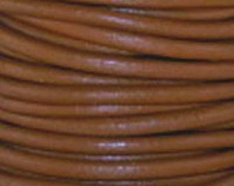 1.5 mm Leather Cord - #13 Lt. Brown - 3 yards - 9 feet