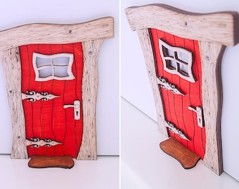 Fairy Door, Christmas Door, Wooden Door, Fairies, Fairy garden, fairy door kit, elf door, Xmas Door, Miniature Fairy Elf Door, kids bedroom