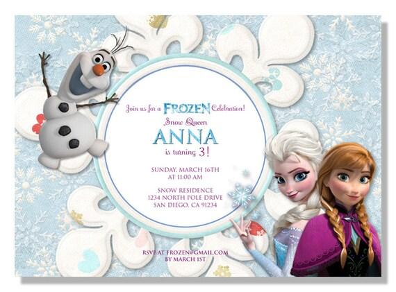 Frozen birthday invitations digital file filmwisefo Images