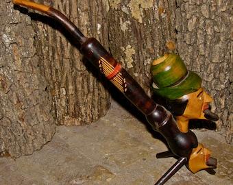 Vintage Hand Carved Swiss Alpine Man / Men Tobacco Smoking Pipe / Unused