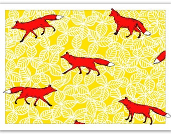 Blank Card with Envelope – Foxes