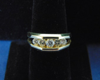 Mens Vintage Estate 14K Yellow Gold & Diamond Ring w/ Appraisal 7.8g E2494