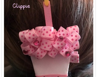 Cupcake Clippie for birthday or cupcake lover!