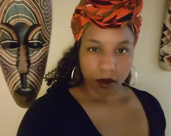 Kente print Head wrap
