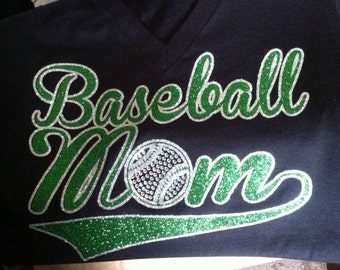 Baseball Mom V-neck