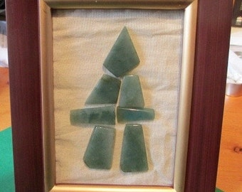 """Jade Inukshuk """"You Are On The Right Path"""" Framed"""