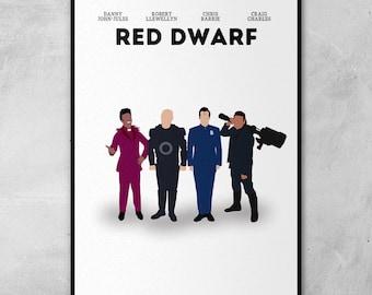 Red Dwarf | Craig Charles | Chris Barrie | Minimal Artwork Poster