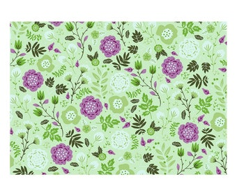 Unique High Quality Green Floral Gift Wrapping Paper-Size A3 - GP108