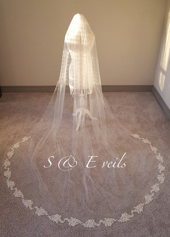 Cathedral Veil with Beaded Appliques