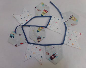 Garland pennants rocket pattern