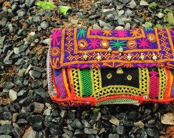 Handcrafted Banjara Clutch Bag, Womens Fashion, Ladies Bag, Ladies Purse, Ladies Wallet , Envelope Clutch Bag , Boho Sling Bag
