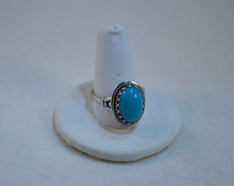 Vintage Danecraft Sterling and Turquoise Ring