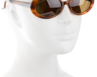 Divine 90s MORGENTHAL FREDERICS Marbled Resin Oval Eye / Round Cat Eye Classic + Flattering Vintage Designer Sunglasses