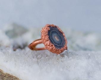 Electorformed Amethyst Stalactite Ring