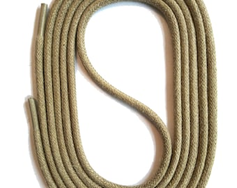 SNORS - laces - round LACES natural sand, 3 lengths, diameter approx. 2-3 mm