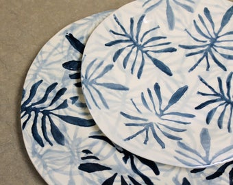AZUL COLLECTION - Handmade & Hand Painted in Portugal - Ceramic Dessert Plate