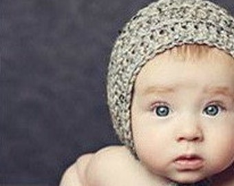 Baby Boy Hat, Baby Clothes, Newborn Boy Photo Props, Newborn Boy Hat, Newborn Bonnet, Baby Boy Newborn Knit Photo Props / Custom Colors