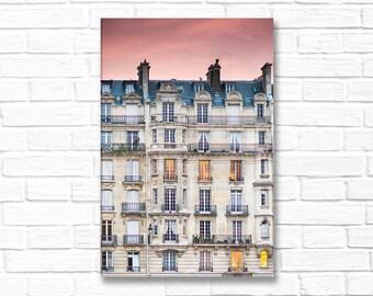 Paris Photography on Canvas - Sunset, Ile de la Cite, Paris, Gallery Wrapped Canvas,  French Home Decor, Large Wall Art, Travel Photography