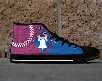 Philadelphia Baseball 2nd Generation Custom Fan Made High Top Canvas Shoes