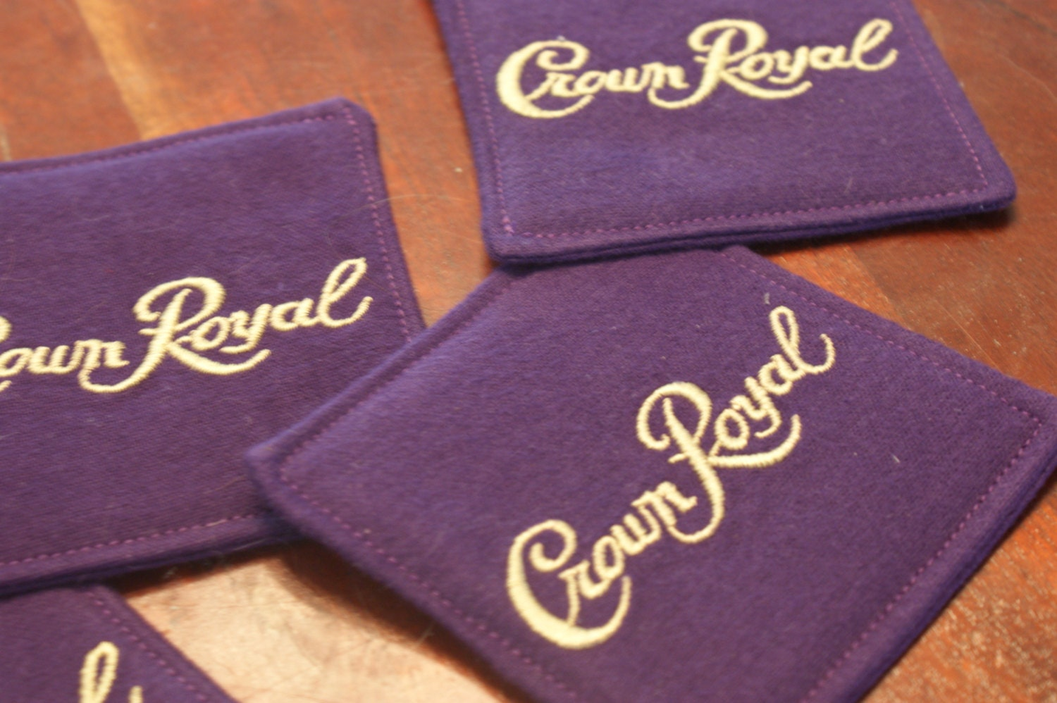 Crown royal coasters set of 4 made from genuine crown royal zoom negle Choice Image