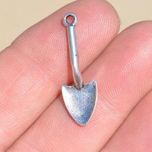 10  Silver Shovel Charms SC1819