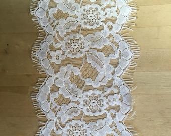 White Chantilly Lace trim