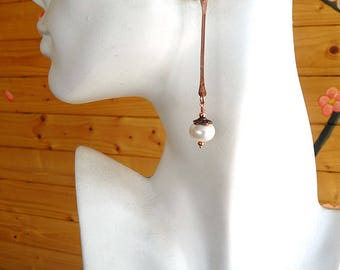Beautiful Long Pearl Earrings