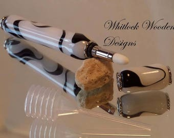 Handmade White And Black Perfume Pen