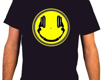 Headphones Smiley / MSC 30 - Music DJ Man T-shirt