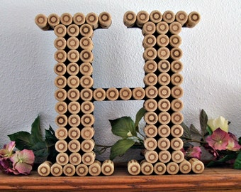 Cork Monogram Letter / Handmade / Perfect for a Vineyard Wedding