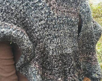 Buttoned Shawl - Ready to Ship - Christmas Present - Gift Idea