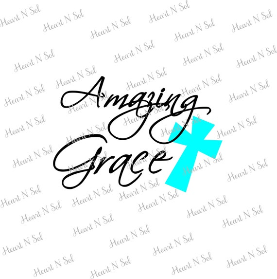 Amazing Grace Easter Cross Easter Design Faith Christian